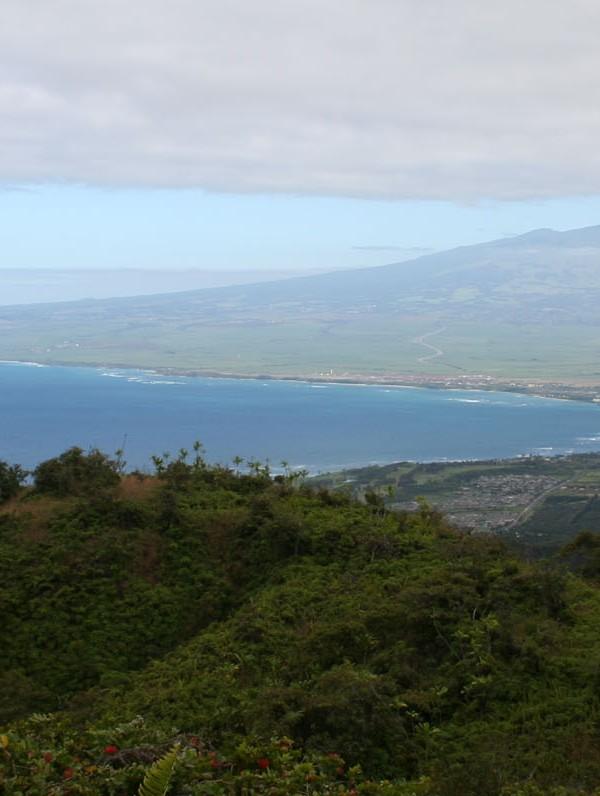 Waihee Ridge Trail - Haleakala in the distance