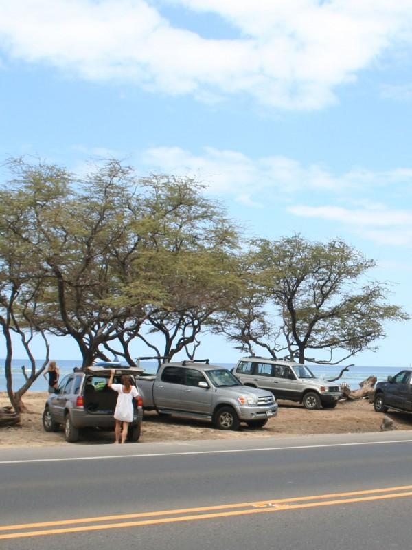 Ukumehame Beach Park is practically on the road.
