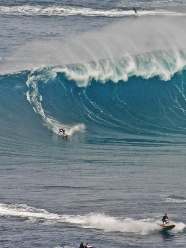 When the North Shore surf is big, Jaws is gigantic.